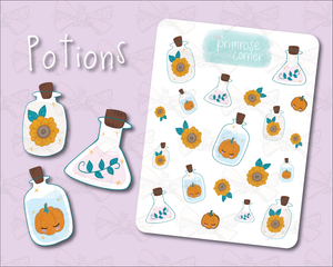 Potions Sticker Sheet - Halloween - Primrose Collection