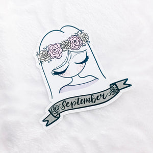 September Sticker Die Cut - Primrose Collection