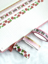 Load image into Gallery viewer, Pretty in Pink Washi Tape - Frosted Gold Foil - 3 Design Set - Accessories Collection