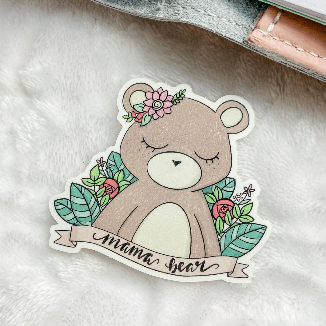 Mama Bear Vinyl Sticker Decal - Illustrated Collection