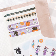 Load image into Gallery viewer, Halloween Washi Tape - Frosted Gold Foil - 3 Design Set - Accessories Collection