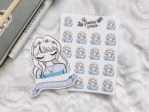 January Girl Sticker Sheet - Primrose Collection