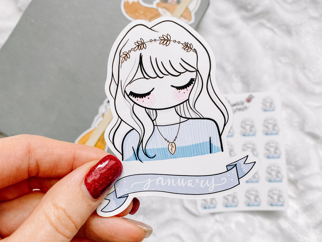 January Sticker Die Cut - Primrose Collection