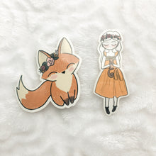Load image into Gallery viewer, Fox Vinyl Sticker Decal - Fall into Autumn - Primrose Collection