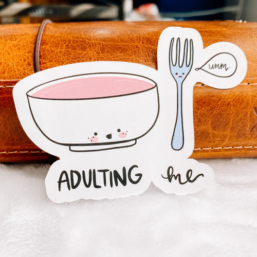 Adulting Sticker Die Cut - Primrose Collection