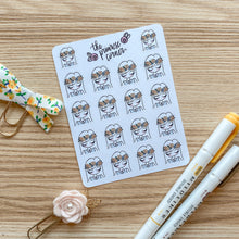 Load image into Gallery viewer, August Sticker Sheet - Primrose Collection