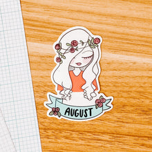 Load image into Gallery viewer, August Girl 2020 Vinyl Sticker Decal - Illustrated Collection