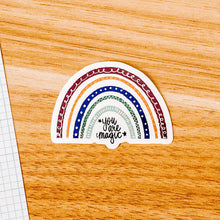 "Load image into Gallery viewer, ""You are magic"" Autumn Rainbow Vinyl Sticker Decal - Illustrated Collection"