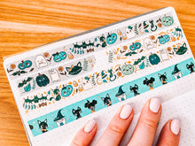 Load image into Gallery viewer, Halloween Cuties Washi Tape - Silver Pixie Holo Foil - Original Design - Accessories Collection