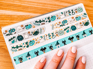 Halloween Witches Washi Tape - Silver Pixie Holo Foil - Original Design - Accessories Collection
