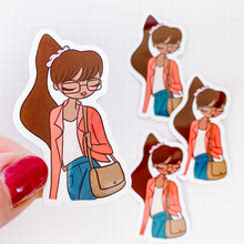 Load image into Gallery viewer, University Girl Vinyl Sticker Decal