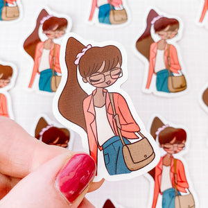 University Girl Vinyl Sticker Decal