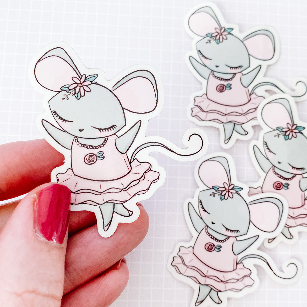 Ballet Mouse Vinyl Sticker Decal
