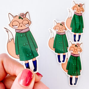 Fox Girl Vinyl Sticker Decal