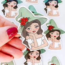 Load image into Gallery viewer, Christmas Witch Vinyl Sticker Decal