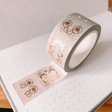 Load image into Gallery viewer, Kawaii TAB TAPE Washi Tape - Pink to Mint Ombre - Rose Gold Foil