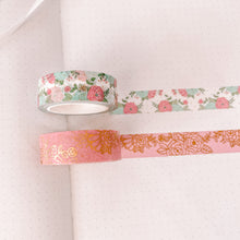 Load image into Gallery viewer, Pink Carousel Washi Tape - Gold Foil - Set of Two - Patron Extras - Original Design