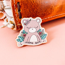 Load image into Gallery viewer, mama bear wooden pin