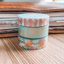 Load image into Gallery viewer, Carousel Washi Tape - Gold Foil - Set of Three - Original Design