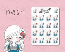 Load image into Gallery viewer, May Sticker Sheet - Primrose Collection