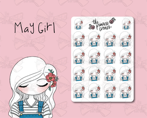May Sticker Sheet - Primrose Collection