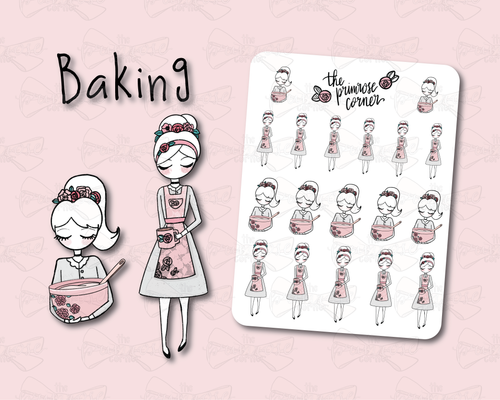 Baking - Primrose Illustration - Kitchen Collection