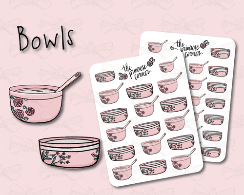 Bowls Illustration - Floral - Kitchen Collection