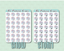 Load image into Gallery viewer, Tiny Weather Stickers - Primrose Illustration