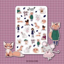 Load image into Gallery viewer, Autumn Woodland Sticker Sheet