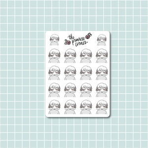 the Perfectionist Sticker Sheet - Primrose Collection