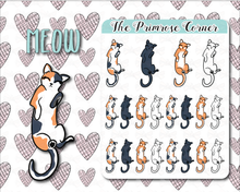Load image into Gallery viewer, Meow - Cat Stickers - Hand Drawn Sticker Sheet