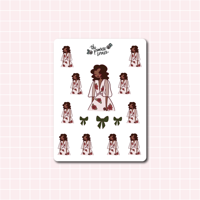 Cozy Winter Dress Sticker Sheet