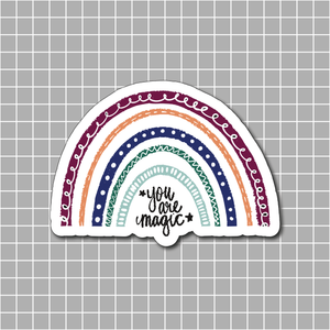 """You are magic"" Autumn Rainbow Vinyl Sticker Decal - Illustrated Collection"