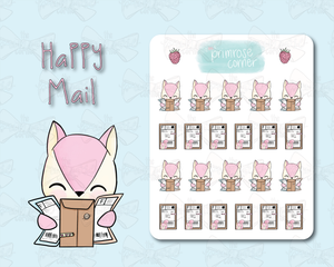 Happy Mail Sticker Sheet - Raspberry Collection