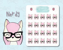 Load image into Gallery viewer, Nerdy Sticker Sheet - Raspberry Collection