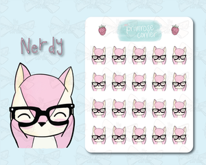 Nerdy Sticker Sheet - Raspberry Collection