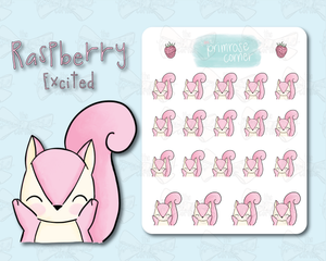 Excited Sticker Sheet - Raspberry Collection