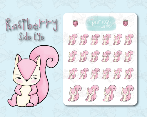 Side Eye Sticker Sheet - Raspberry Collection