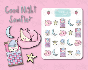 Good Night Sampler Sticker Sheets - Raspberry Collection
