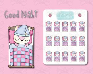 Good Night Sticker Sheet - Raspberry Collection