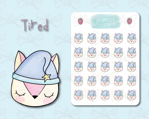 Tired Sticker Sheet - Raspberry Collection