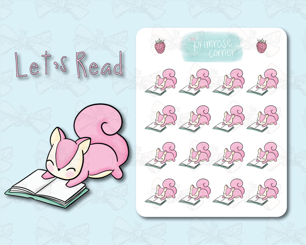 Let's Read Sticker Sheet - Raspberry Collection