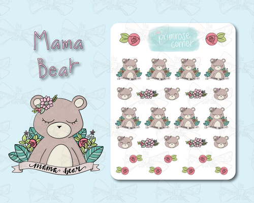 Mama Bear Sticker Sheet - Illustrated Collection