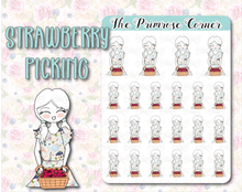 Load image into Gallery viewer, Strawberry Picking - Hand Drawn Sticker Sheet