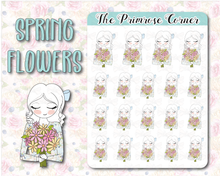 Load image into Gallery viewer, Spring Flowers - Hand Drawn Sticker Sheet