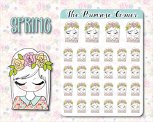 Load image into Gallery viewer, Spring - Hand Drawn Sticker Sheet