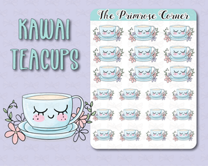 Kawaii Teacup - Illustrated Collection