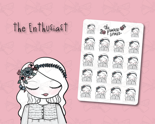 the Enthusiast Sticker Sheet - Primrose Collection