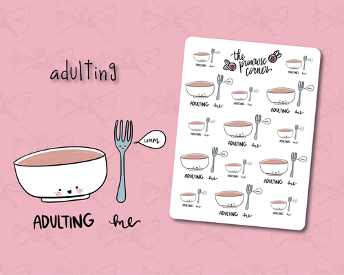 Adulting Sticker Sheet - Primrose Collection