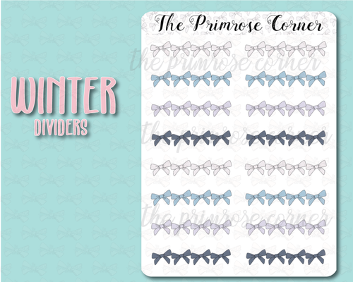 Winter Bow Dividers